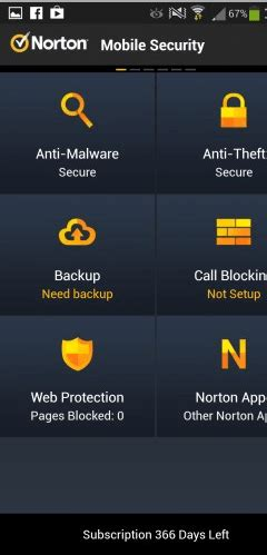 norton mobil security norton mobile security free 1 year subscription