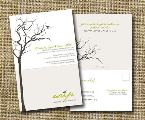 printable perforated postcards modern wedding invitation with perforated rsvp postcard