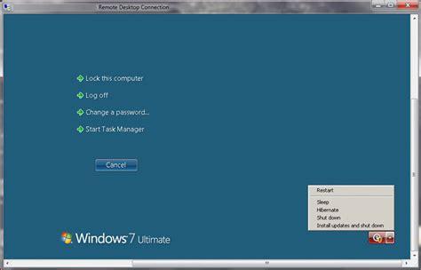 remote desktop windows 7 reboot windows 7 using remote desktop question defense