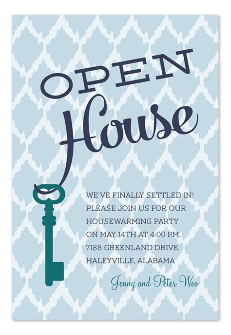 Open House Key Party Invitations By Invitation Consultants Ic Rlp 1164 Open House Invitation Template