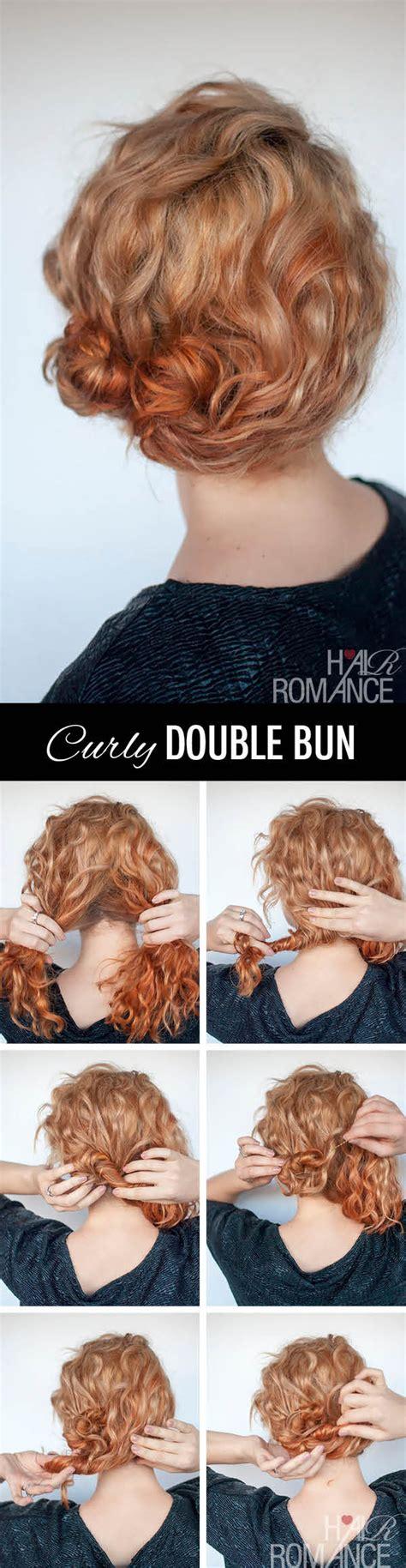 hairstyles curly hair tutorial hairstyle tutorial for curly hair the double bun hair