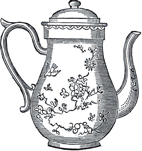 vintage clipart free vintage teapot clip art the graphics fairy