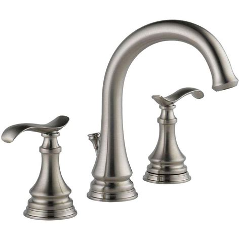 Bathroom Faucet Brushed Nickel by Delta Kinley 35730lf Sp Widespread Bathroom Lavatory Faucet Brushed Nickel Ebay