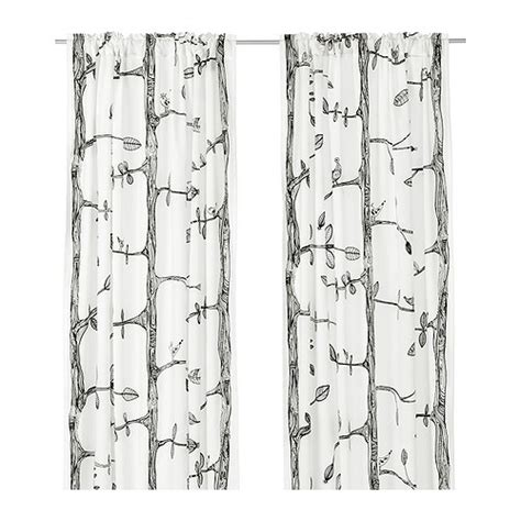 ikea black and white curtains eivor curtains 1 pair ikea