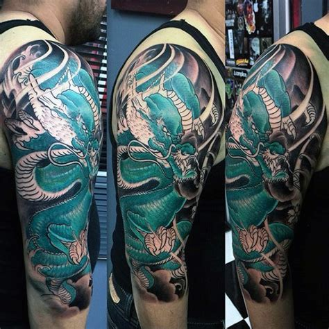 dragon sleeve tattoos for men 50 deadly tattoos for manly mythical monsters