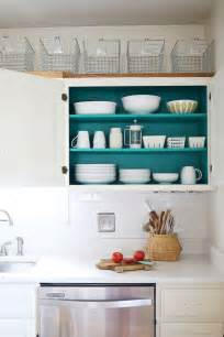 inside kitchen cabinet ideas nesting colored kitchen cabinets a beautiful mess