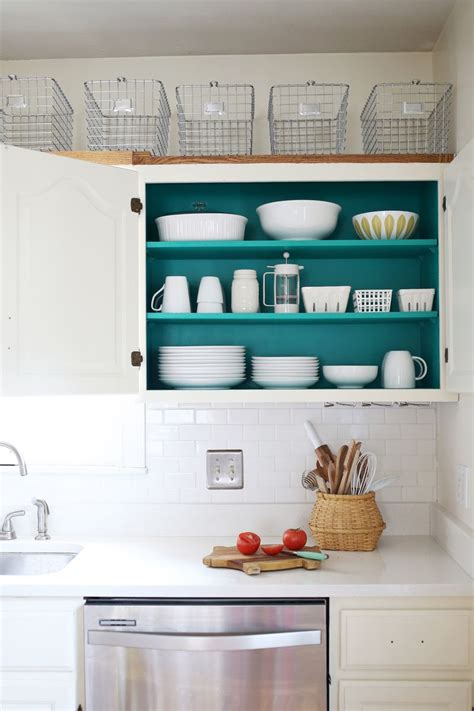 Ideas For Inside Kitchen Cabinets Nesting Colored Kitchen Cabinets A Beautiful Mess