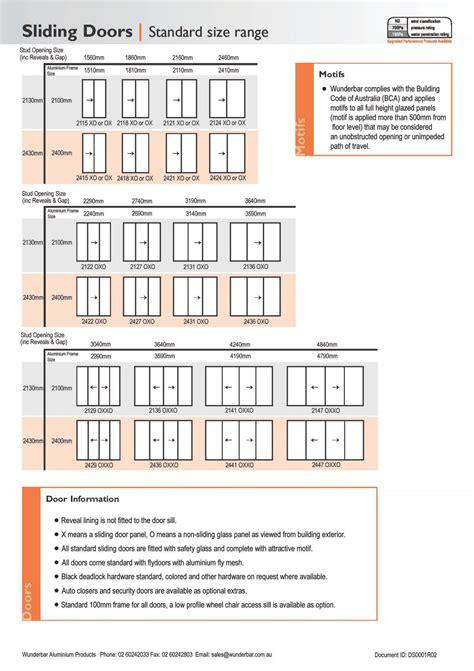 length of standard standard length of sliding door sliding doors