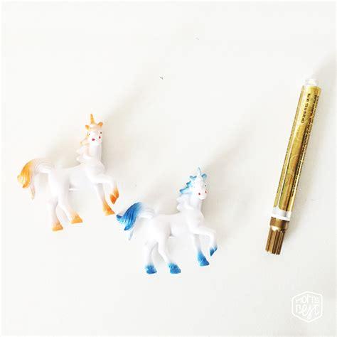 spray paint unicorn diy unicorn toppers destination nursery
