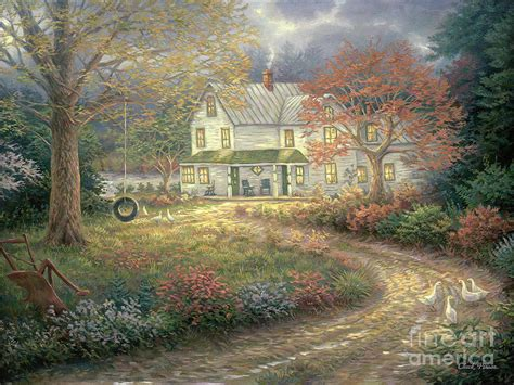 country farmhouse mid country farmhouse painting by chuck pinson