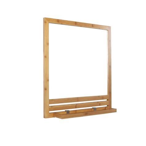 tablette salle de bain 3441 miroir avec tablette l 53 0 cm leroy merlin