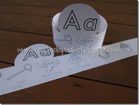 printable alphabet hats preschool alphabet a is for alphabet