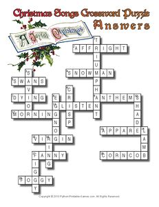 crossword clue vicars themes and christmas eve 12 christmas puzzles printable games