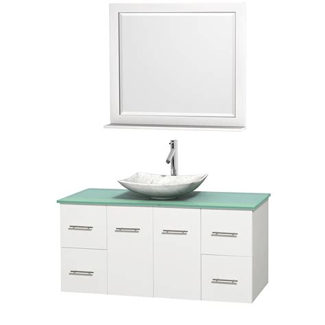Vessel Sink Vanity Set by 48 Quot Centra Single Bathroom Vanity Set For Vessel Sink By Wyndham Collection White Bathroom