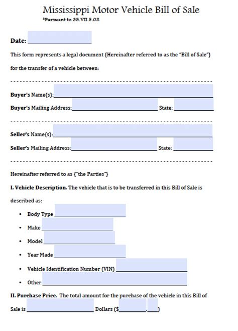 free sample of a bill of sale form templates more