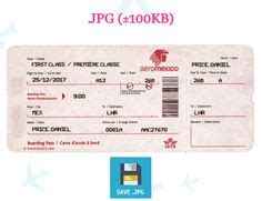create a plane ticket to give as a gift cool i am using this to the