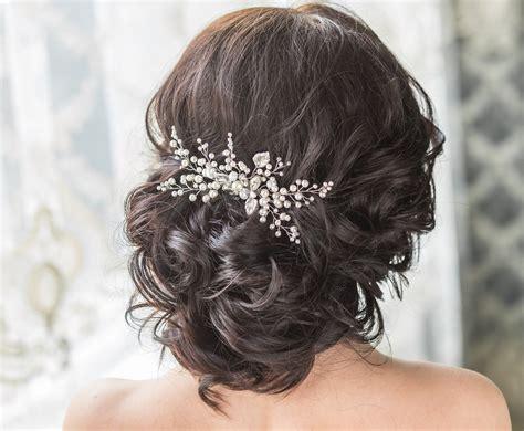 Wedding Hairstyles Hair Pieces by Bridal Hair Comb With Swarovski Pearls Bridal Headpiece Bridal