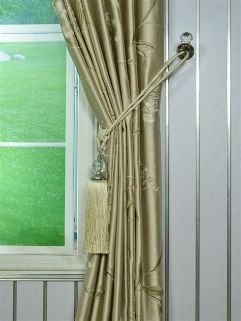 franklin curtains franklin deep chagne embroidered floral eyelet faux
