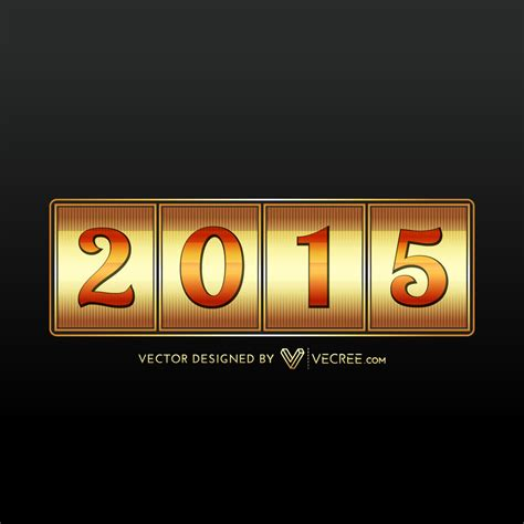 new year 2015 vector free 2015 golden new year free vector by vecree on deviantart