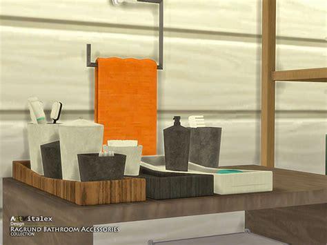 Bathroom Decor Objects Ragrund Bathroom Accessories By Artvitalex At Tsr 187 Sims 4
