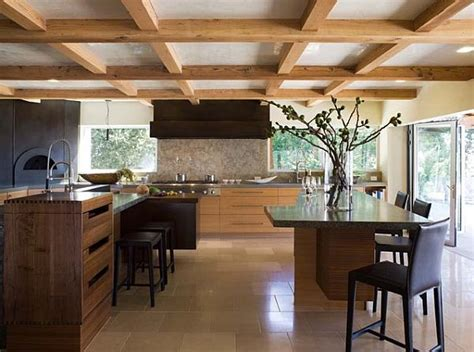 ceiling ideas for kitchen exposed beams low ceiling kitchen decoist
