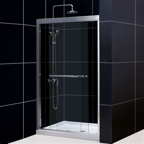 Dreamline Shower Doors Reviews Dreamline Shdr 12 Duet Bypass Sliding Shower Door Atg Stores