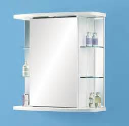 Bathroom mirror cabinets glass element