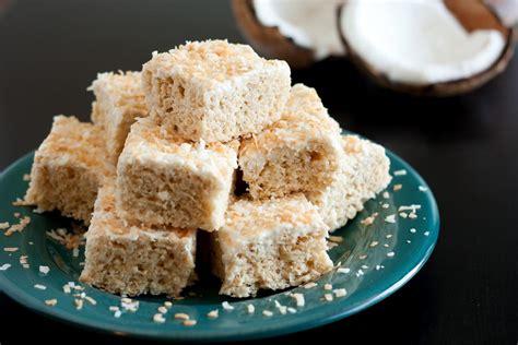 rice krispie treats chocolate coconut rice krispie treats recipe dishmaps