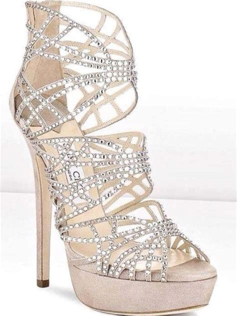 silver high heels with diamonds shoes dimonds high heels glitter shoes prom shoes
