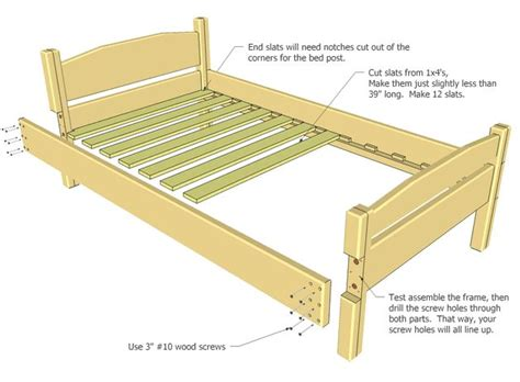 Wood Bed Frame Parts Going To Use This Design And Adapt It To Make An L Shaped Loft Bed For The Boys