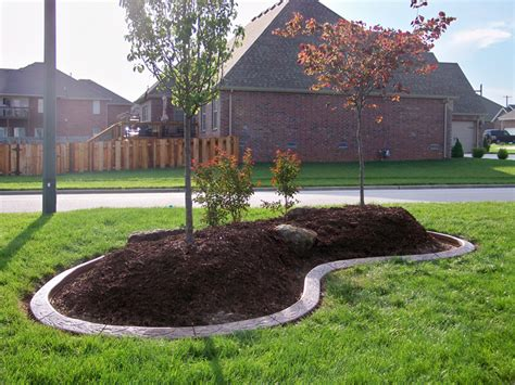 Landscape Edging Around Trees Landscaping Around Trees Concrete Border Applications