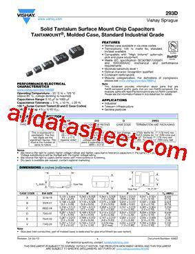vishay capacitors data sheet 293d105x9035b2te3 datasheet pdf vishay siliconix