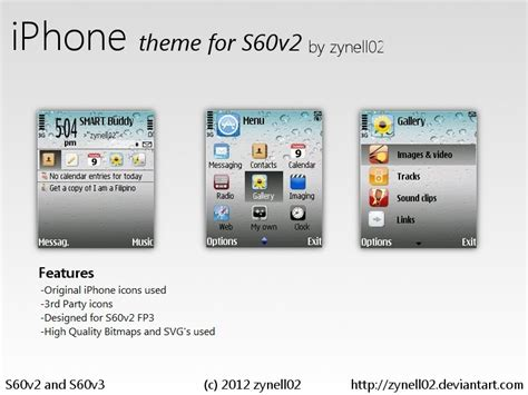 themes messages iphone iphone theme s60v2 by zynell02 on deviantart
