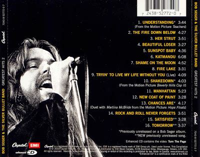 bullet for my greatest hits bob seger quotes quotesgram