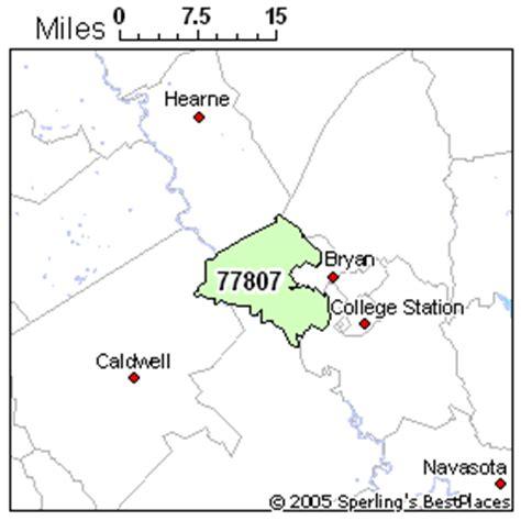 bryan texas zip code map best place to live in bryan zip 77807 texas