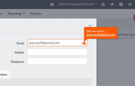 email format validation in html accounting updates sage business cloud