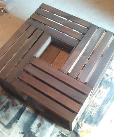 Vintage Wine Crate Coffee Table5 Diy Wine Crate Coffee Table
