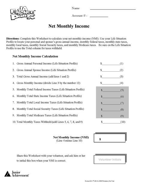 Personal Finance Worksheets For Highschool Students personal finance worksheets for high school lesupercoin