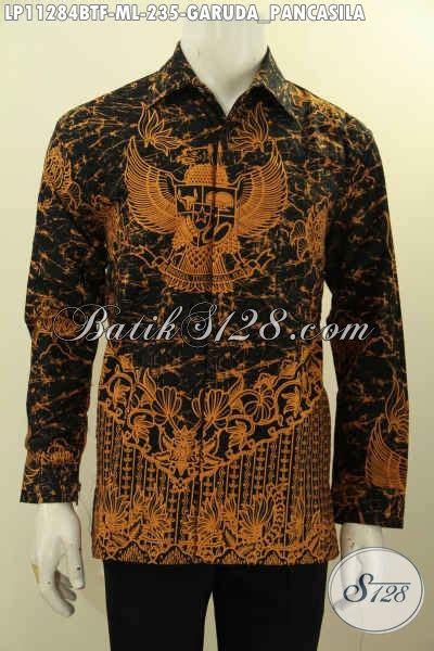 Batik Hem Motif Sayap Garuda pakaian batik asli motif garuda pancasila hem batik