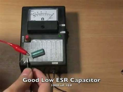 how do capacitor meters work esr meter a k a a capacitor tester by cavy lab