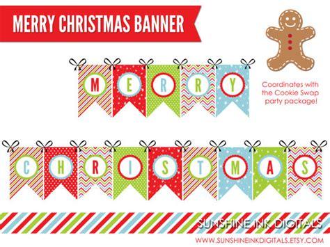 printable christmas banner printable merry christmas banner christmas decoration