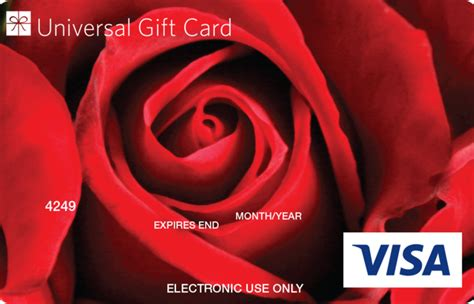 Are Visa Gift Cards Accepted Everywhere - universal visa gift card red rose