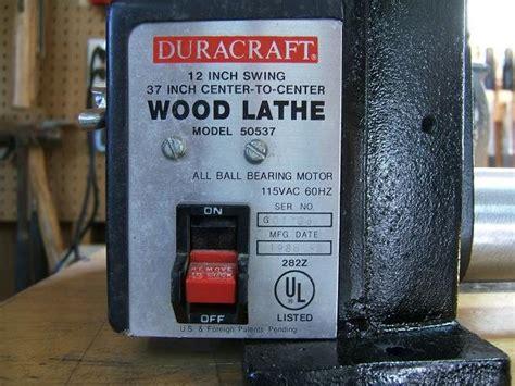 Wood Duracraft Wood Lathe Pdf Plans