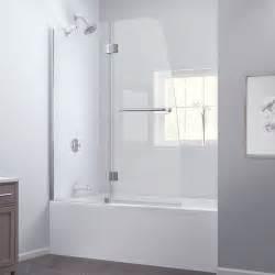 dreamline aqua 48x58 inch frameless hinged tub door ebay