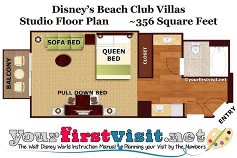 disney floor plans disney club villa studio floor plan