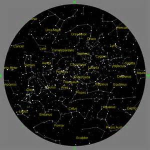 november evening sky map