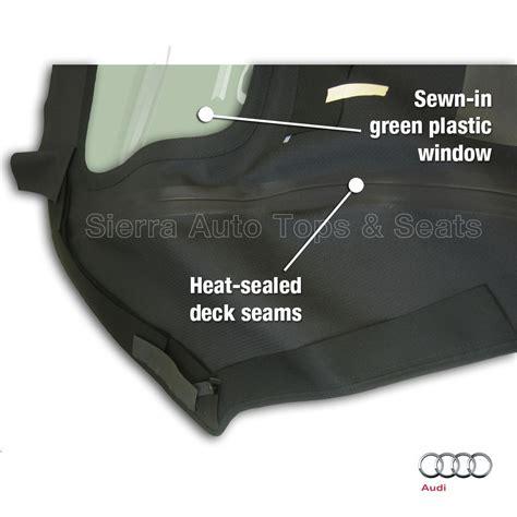 audi cabrio convertible top  plastic window black stayfast cloth