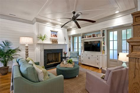 fan with ac built in built in tv cabinets family room traditional with black
