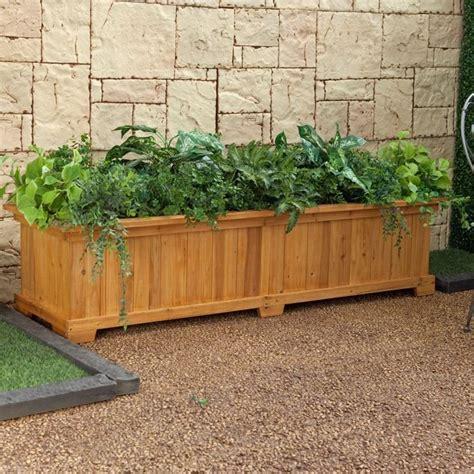 vasi in legno da giardino fioriere in legno vasi da giardino usare fioriere in legno