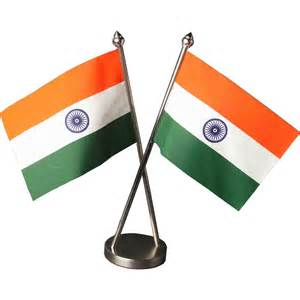 indian cross table flag with stainless steel base and